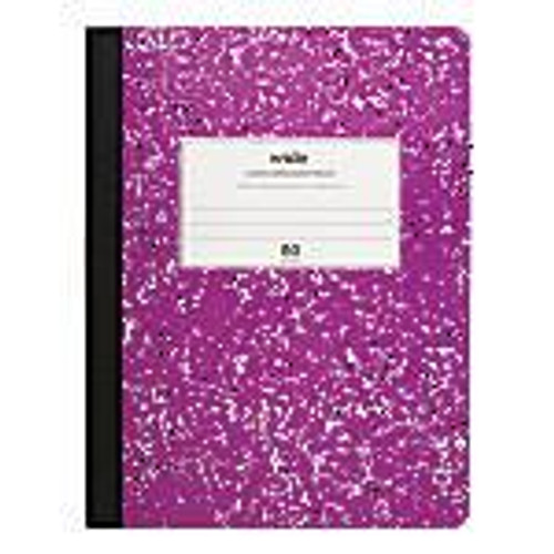 """Office Depot® Marble Composition Book, 7 1/2"""" x 9 3/4"""", Wide Ruled, 160 Pages (80 Sheets), Purple"""