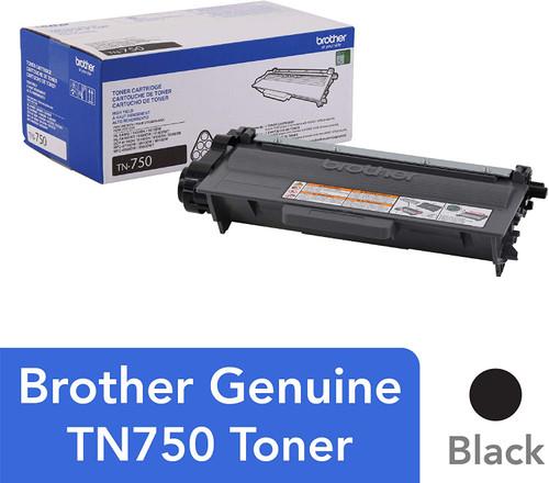 Brother TN-750 High-Yield Black Toner Cartridge