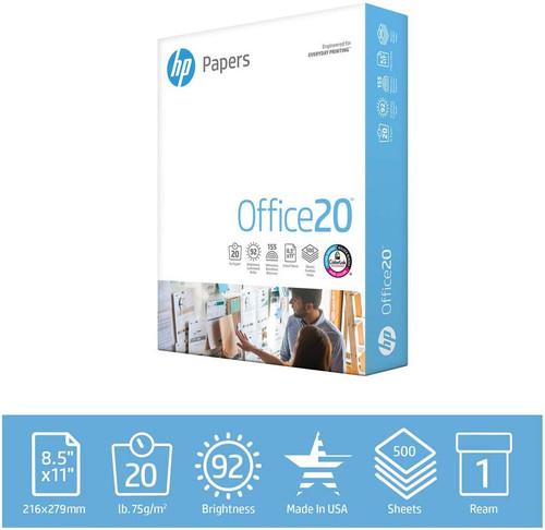 HP Printer Paper Office 20lb, 8.5 x 11, 1 Ream, 500 Sheets