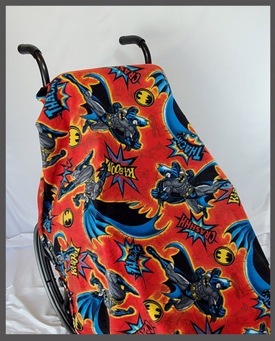 Batman Red Fleece Wheelchair Poncho
