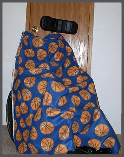 Basketballs on Blue- Wheelchair Poncho