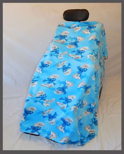 Smurfs- Fleece Wheelchair Poncho