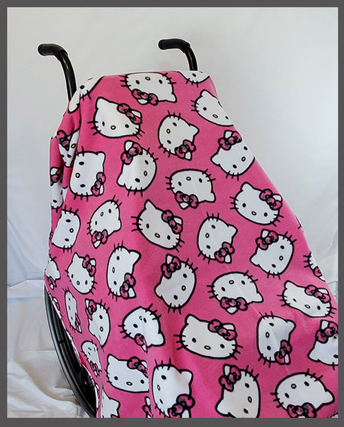 Hello Kitty Faces Wheelchair Poncho