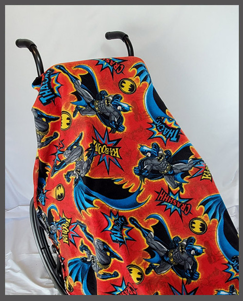 Batman Red Fleece Wheelchair Poncho