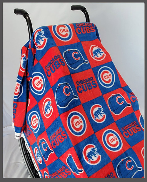 Cubs Fleece Wheelchair Poncho