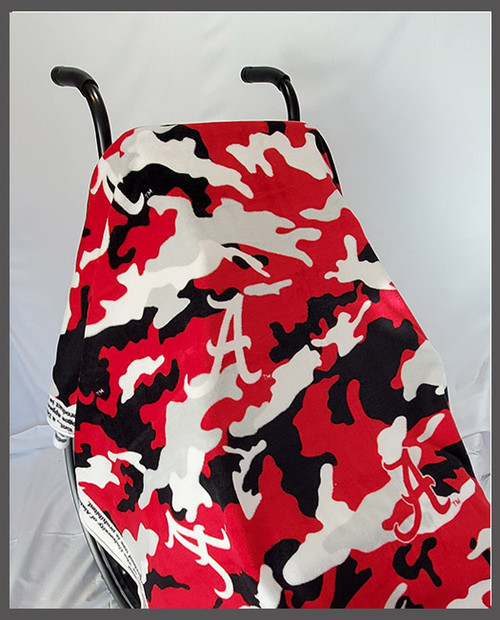 Alabama Camo Fleece Wheelchair Poncho