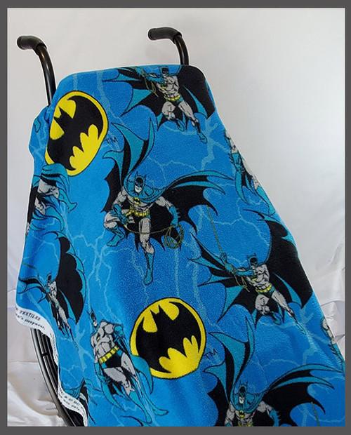 Batman Blue Fleece Wheelchair Poncho