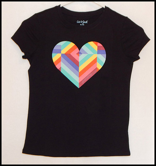 Hearts on Black shirt