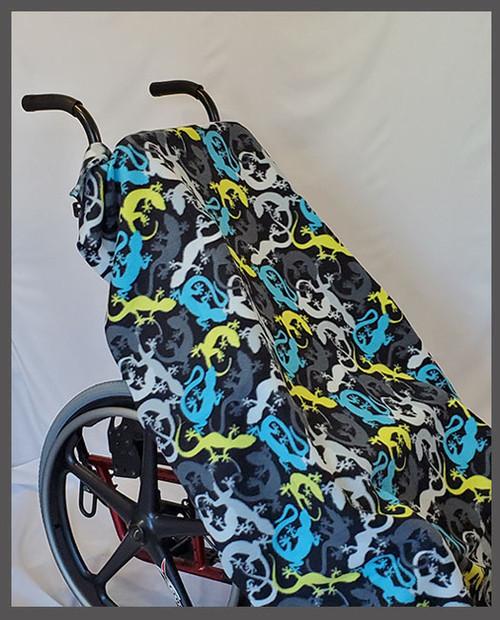 Lizards- Fleece Wheelchair Poncho (sz Small)