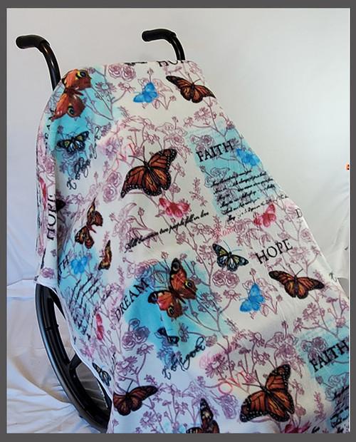 Butterfly Dream- Fleece Wheelchair Poncho