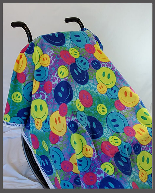 Smiles- Fleece Wheelchair Poncho