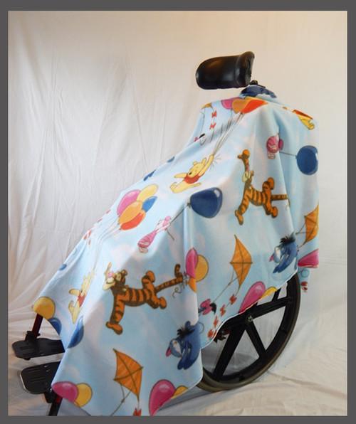 Sweet Bear & Friends- Fleece Wheelchair Pocho