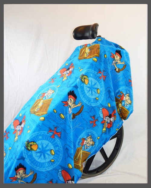 Pirate Kid- Fleece Wheelchair Poncho