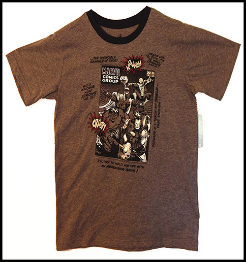 The Avengers on Gray - Boys sz 11/12 Body Suit- (Altered T-shirt)