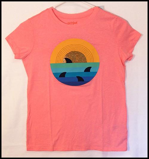 Sharks on Pink shirt