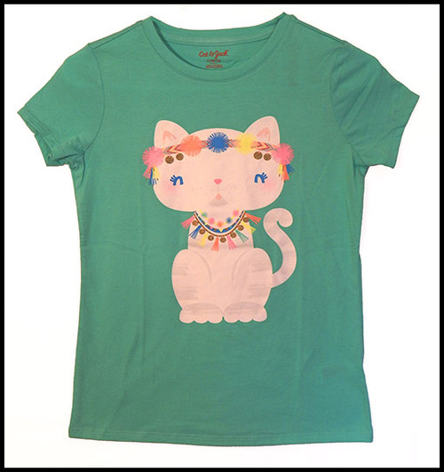 Cat on Green shirt