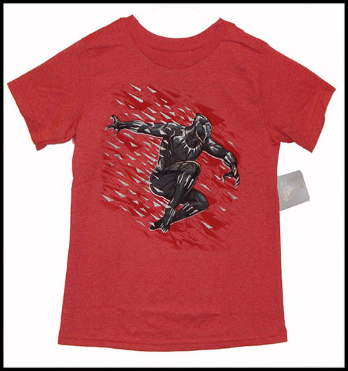 Black Panther on Red shirt