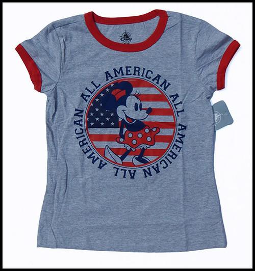 Minnie Gray Ringer shirt
