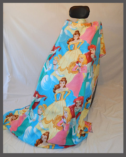 Big Disney Princesses- Fleece Wheelchair Poncho