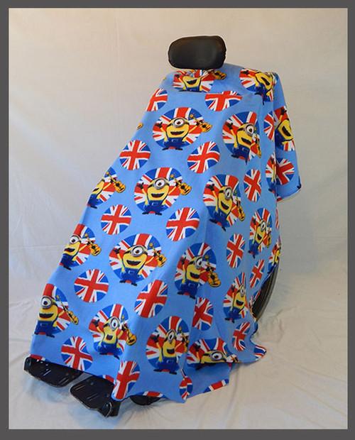 British Minions Blue- Fleece Wheelchair Poncho