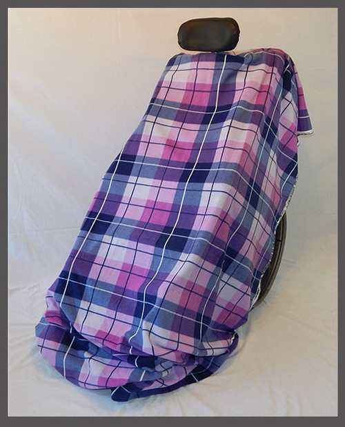 Avery Plaid- Fleece Wheelchair Poncho (sz Small)
