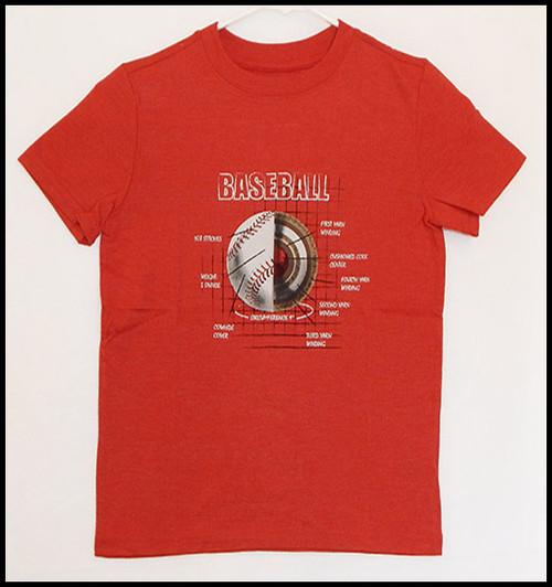 Baseball on Red shirt