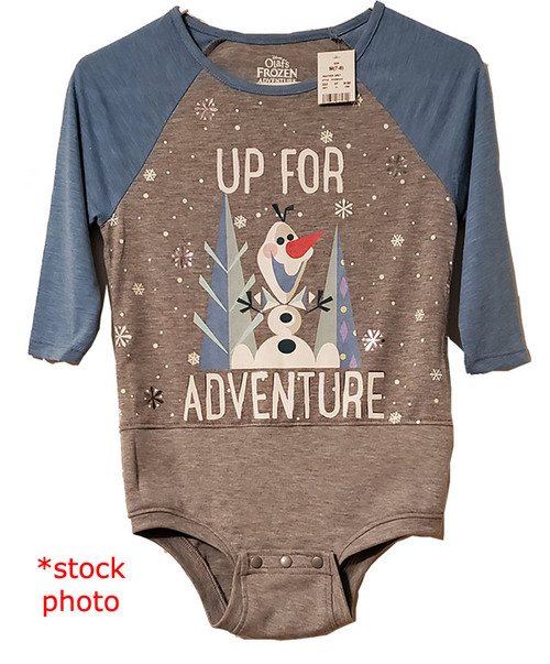 Olaf Adventure - Girls sz 10/12 Body Suit- (Altered T-shirt)
