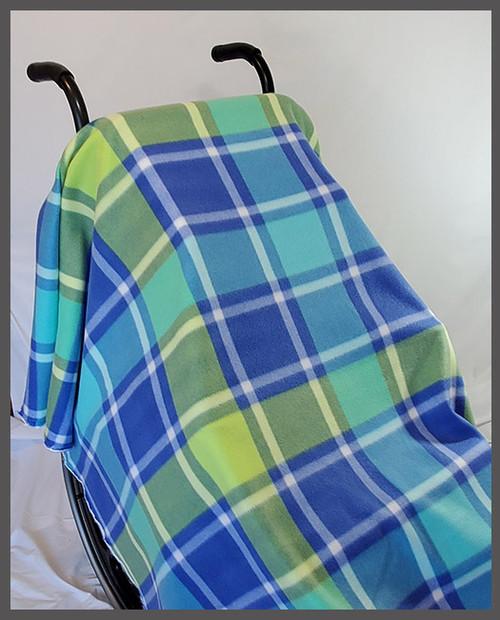 Bruno Plaid- Fleece Wheelchair Poncho