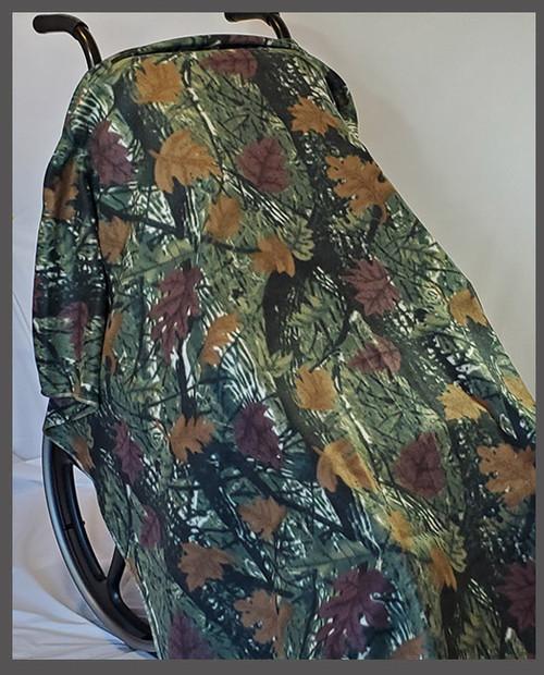 Camo Leaf- Fleece Wheelchair Poncho