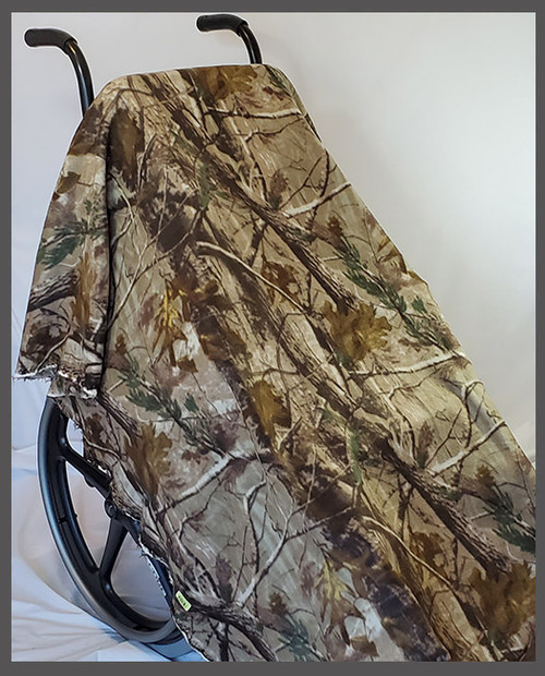Tree Camo- Fleece Wheelchair Poncho