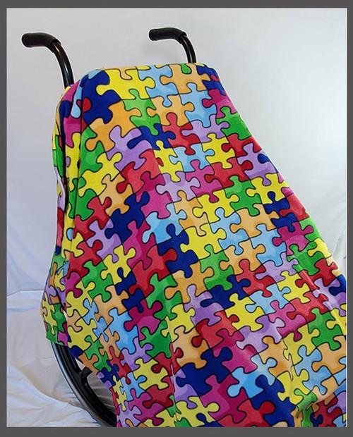 Puzzle- Fleece Wheelchair Poncho (sz Small)