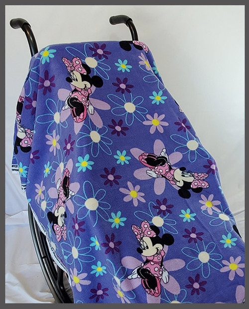 Minnie on Purple- Fleece Wheelchair Poncho