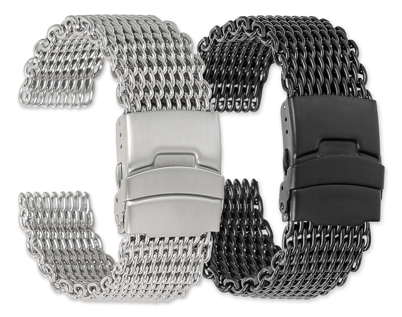 084b3fa3068 Shark Mesh Metal Replacement Watch Band