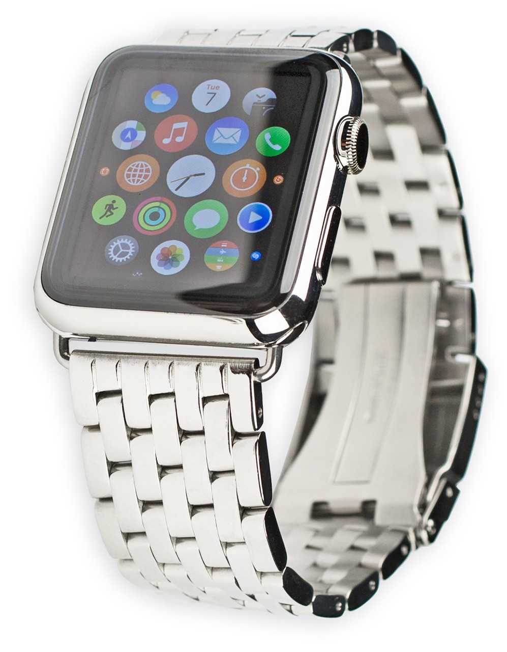 2930e1d9e6f Breitling Navitimer Style Metal Watch Band - Fits 42mm   44mm Apple Watch