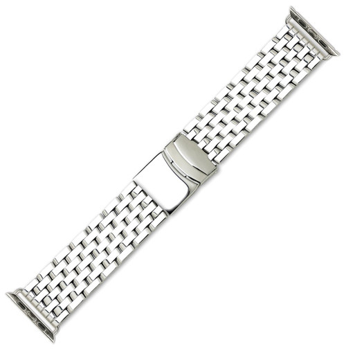 3e6ed799cf0b55 ... Breitling Navitimer Style Metal Watch Band - Fits 42mm / 44mm Apple  Watch ...