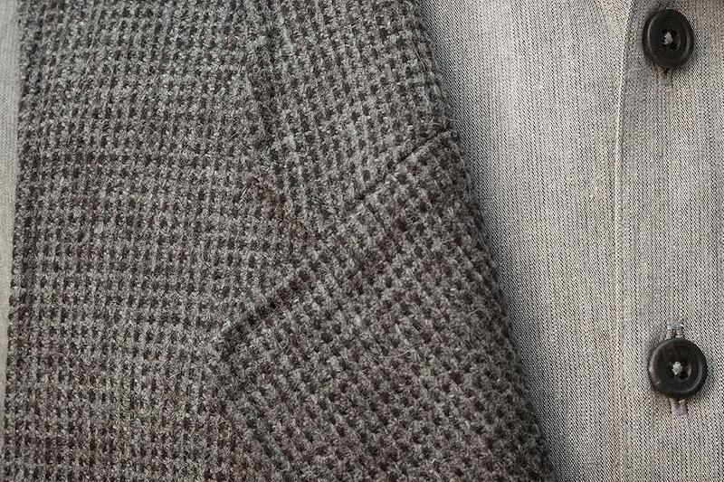 Lapel Vest, Grey-Charcoal