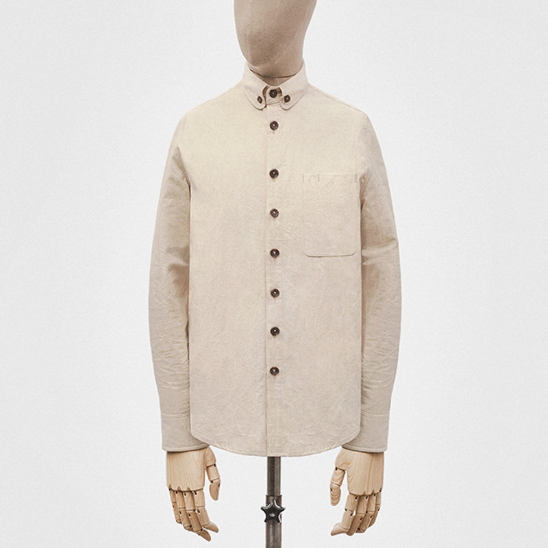 Button-down Shirt, Ecru