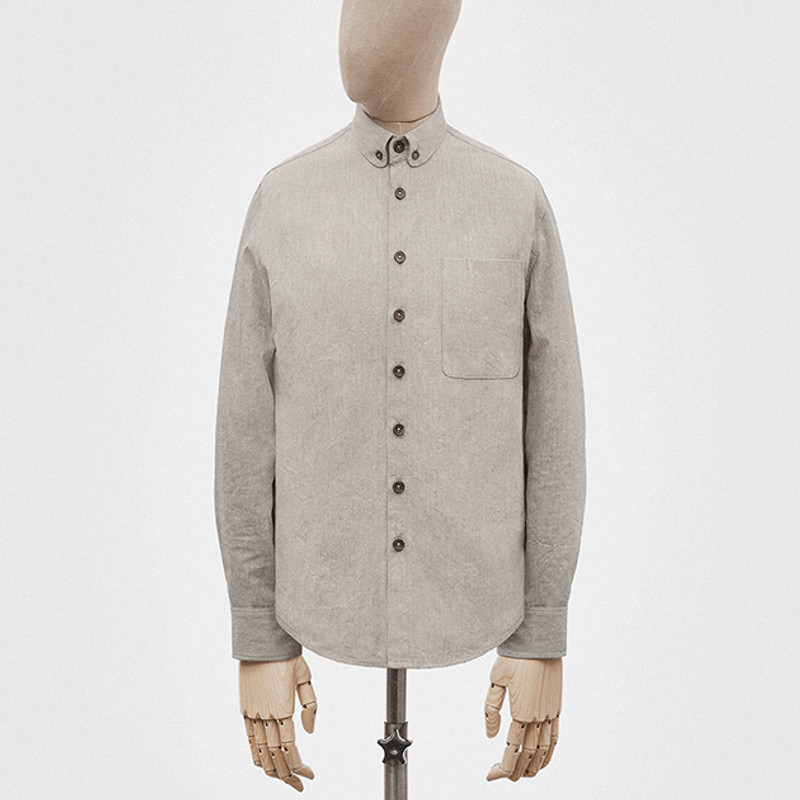Button-down Shirt, Light Grey