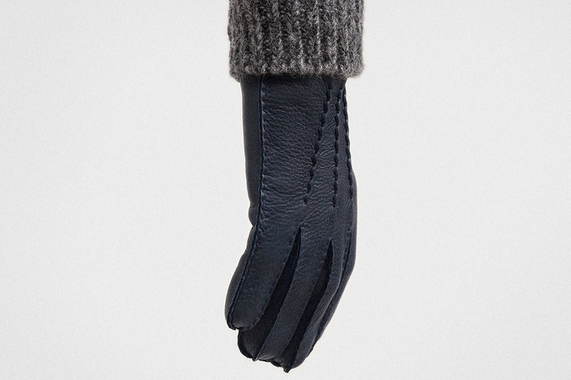Gloves, Navy and Charcoal