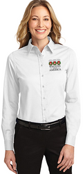 Wreaths Across America Button Dress Shirt