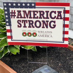 #AmericaStrong Yard Sign & Wreath Sponsorship