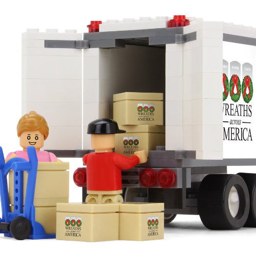 Trucking Toy Block Set with Wreath Sponsorship
