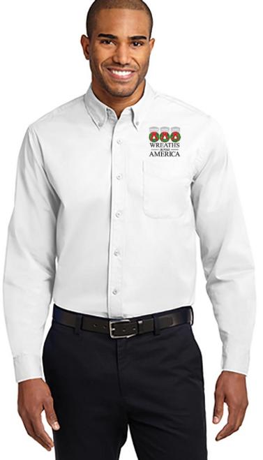 Wreaths Across America Button Dress Shirt