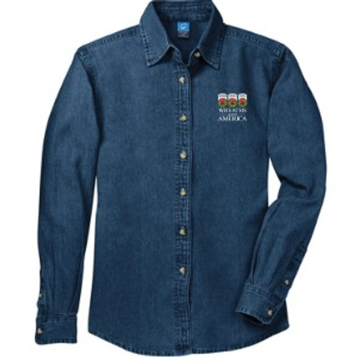 Ladies Blue Jean Shirt