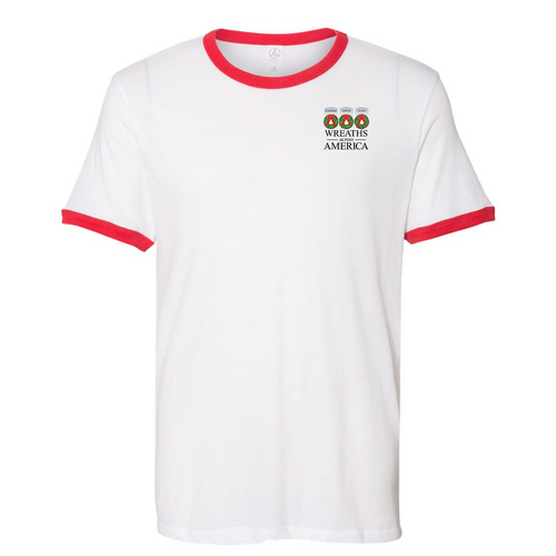 Live Up To Their Legacy White/Red Ringer Tee Theme on back