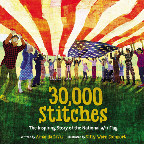 30,000 Stitches: The Inspiring Story of the National 9/11 Flag - Wreath Sponsorship Combo