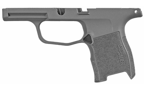 Sig Sauer P365 Grip Module Assembly, GRAY, NO MANUAL SAFETY
