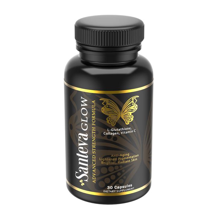 Santeva Glow L-Glutathione Powder Capsules - Skin illuminating + Anti Aging Aid  (500 mg)