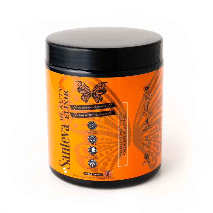 Santeva Beauty Elixir Retinol Powder Supplement - Treats Uneven, Bumpy Textured, Aging, Dull Skin