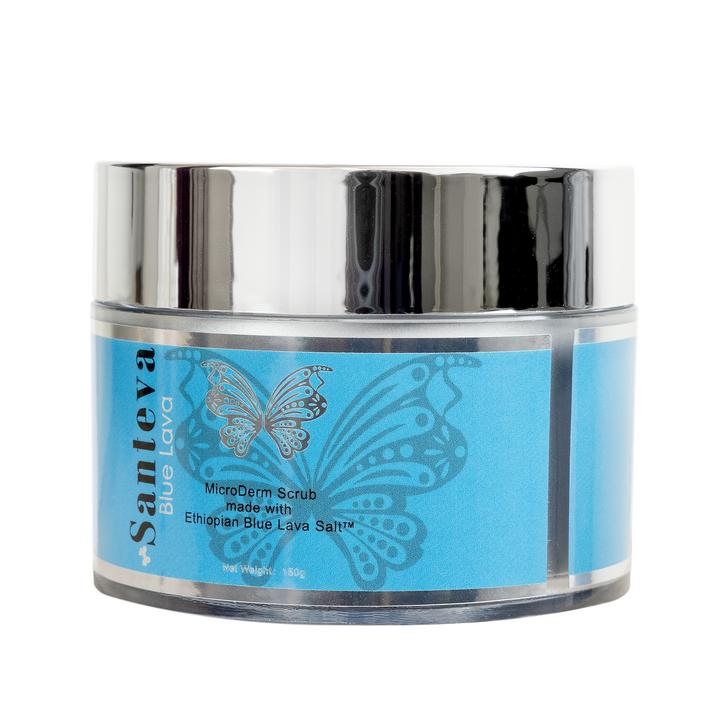 Santeva Blue Lava MicroDerm Body Scrub - Removes Dead Skin Cells + Lightens Dark Marks